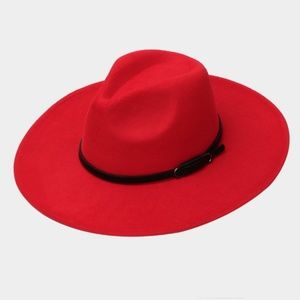 • Boho Suede Floppy Hat- Red